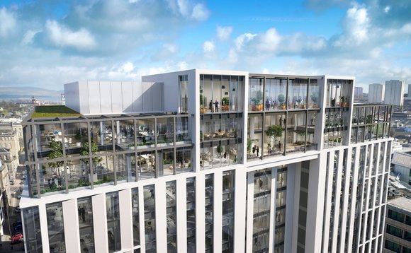 M&G Real Estate's 'The Grid' office development in Glasgow city centre.