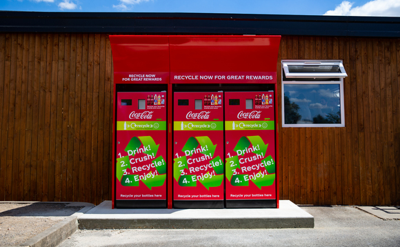 The reverse vending machines are operating again this summer | Credit: Coca-Cola