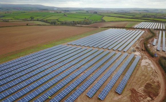 The 7.4MW Creacombe community solar farm in Devon | Credit: CORE