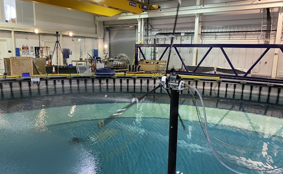Grant-funded model testing of Axis Energy Project's technology at the University of Edinburgh's FloWave tank | Credit: Axis Energy