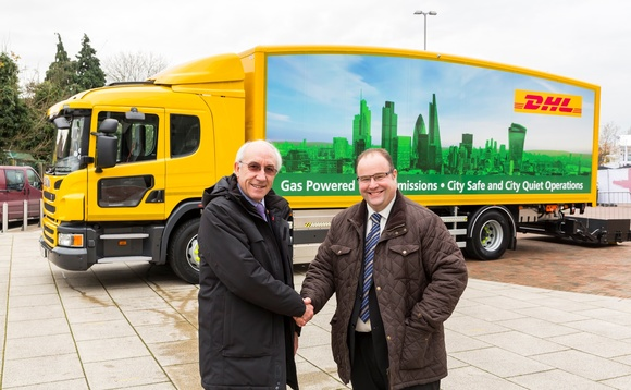 DHL packages natural gas truck as greener alternative