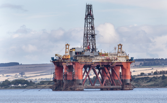 Semi Submersible Oil Rig at Cromarty Firth, Scotland