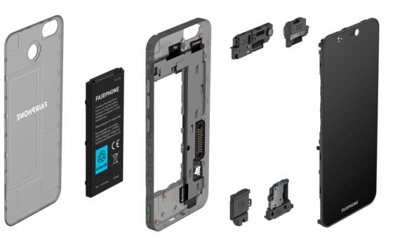 The Fairphone 3 is modular, making it easily repairable | Credit: Fairphone