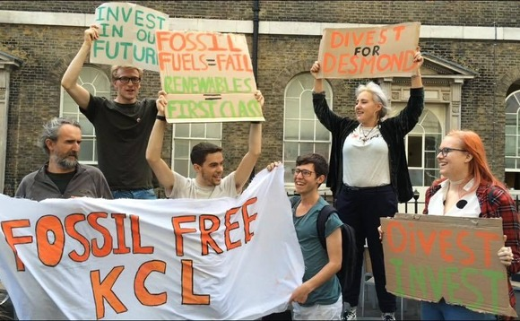 King's College London backs divestment plan