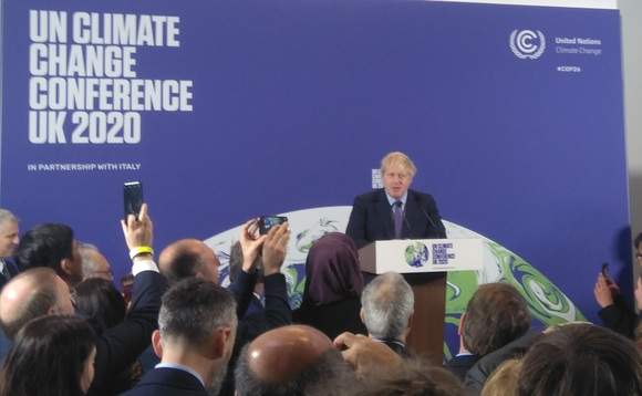 Boris Johnson launching COP26 at the Science Musem