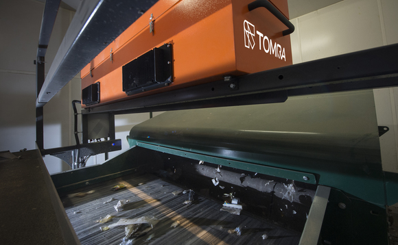 An optical sorting machine used in Veolia recycling plant | Credit: TOMRA Sorting Recycling
