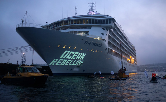 Ocean Rebellion is preparing a series of actions targeting the cruise industry | Credit: Ocean Rebellion