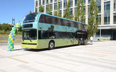One of Genentech's electric commuter buses / Credit: Genetech