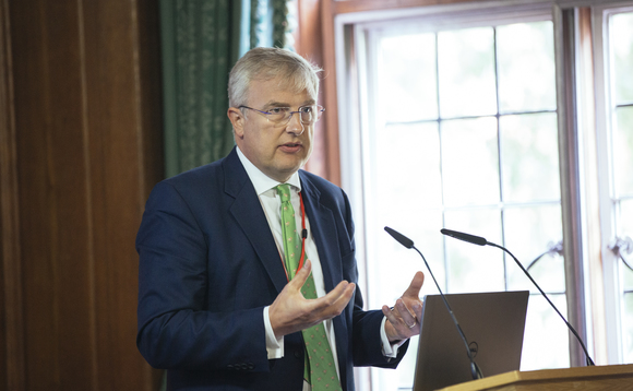 Energy UK CEO Lawrence Slade speaking at BusinessGreen's Net Zero Energy briefing earlier this year | Credit: Incisive Business Media