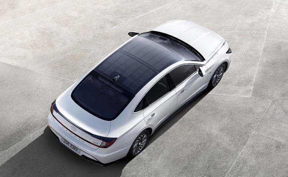 The Hyundai Sonata is the first in a fresh wave of solar roof cars expected to hit the market in the next few years | Credit: Hyundai