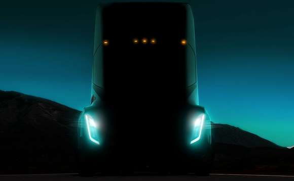 A sneak preview of the electric truck | Credit: Tesla