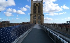 Solar panels at Holy Trinity church Hull