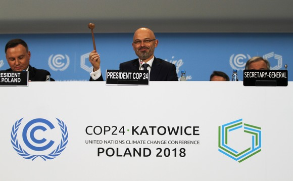 COP24 President Michał Kurtyka gavels in the opening ceremony | Credit: UN Climate Change