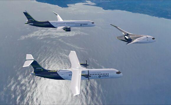 Airbus unveils three designs for zero-emission aircraft
