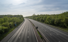The empty M20 Motorway in Kent during the Covid-19 lockdown in 2020