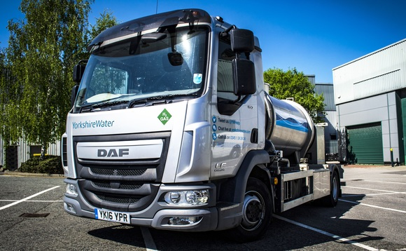 The 7.5 tonne bowser has been converted from a standard truck to use hydrogen fuel. Credit: ULEMCo
