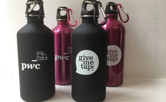 PwC's water bottle trial | Credit: PwC