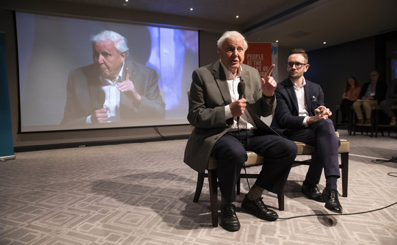 Sir David Attenborough and CCC CEO Chris Stark were among guests during Climate Assembly sessions earlier this year | Credit: Fabio De Paola / PA