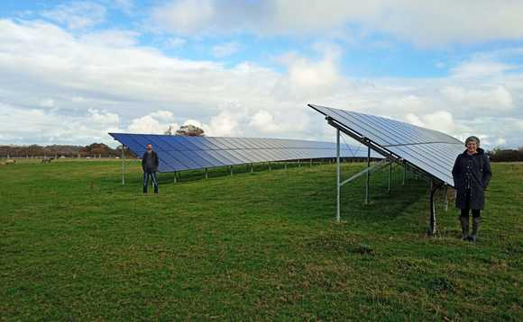 A solar plant at Sewells Farm in Barcombe provides energy to local business park