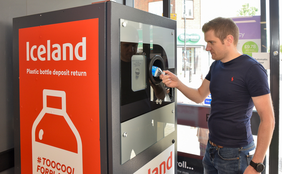 Two thirds of shoppers used the reverse vending machines at least once a fortnight according to Iceland