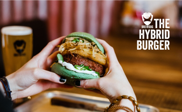 Brewdog's Hybrid Burger is half meat