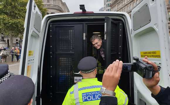 Recolight CEO Nigel Harvey was arrested for protesting with XR
