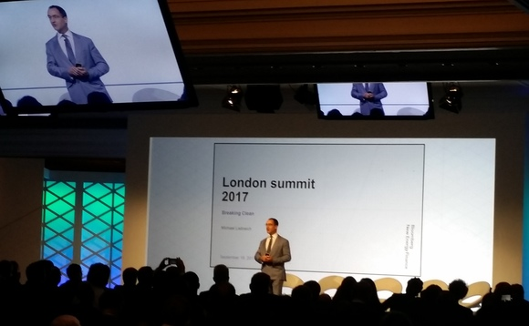Michael Liebreich was speaking at the BNEF Future of Energy summit in London