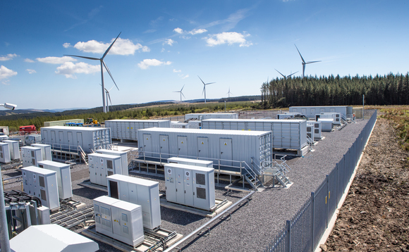 The battery system at the Pen y Cymoedd wind farm in Wales | Credit: Vattenfall/Steve Pope