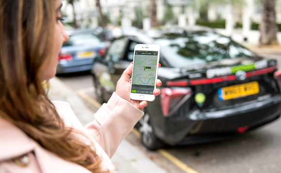 London's private hire fleet currently relies on public bays to recharge EVs | Credit: Green Tomato Cars