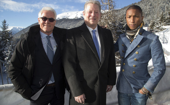 Al Gore and Pharrell Williams announce Live Earth 2015 at Davos