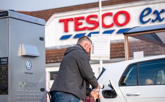Tesco plots UK electric vehicle charger surge