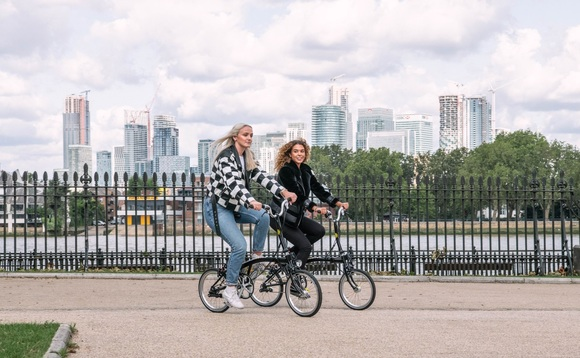 Brompton folding bikes require less storage than a traditional bike, benefitting commuters and city dwellers | Credit: Brompton
