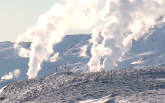 An Icelandic geothermal energy plant