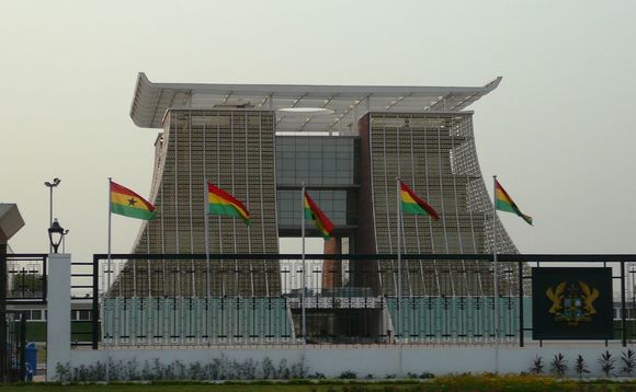 Golden Jubilee House, the presidential palace in Accra, Ghana | Credit: Jessica Gardner