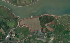 The site in Kent earmarked for the 350MW Cleve Hill solar park