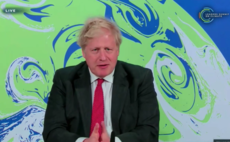 Boris Johnson addresses delegates at the climate summit
