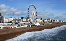 Brighton's Madeira Drive, visible behind the wheel, was closed to cars by Brighton council on Friday. Credit:  Jim Linwood, Flickr