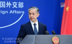 Foreign ministry spokesperson Wang Wenbin addresses journalists after China-EU summit | Credit: China's foreign affairs ministry