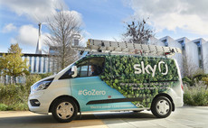 The hybrid Sky engineering van