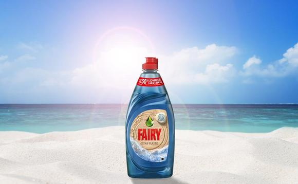The Fairy bottle made from 100 per cent recycled plastic, including 10 per cent ocean plastic | Credit: Procter & Gamble