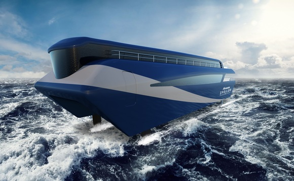 Artist impression of the zero emission ferry | Credit: Artemis Technologies