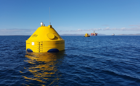 A CorPower Ocean wave energy converter in Scottish waters | Credit: CorPower Ocean