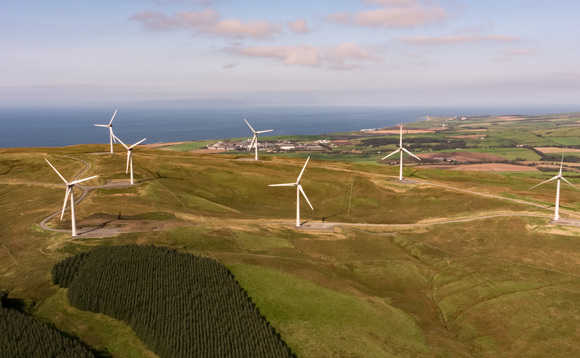 The 18.8MW Tralorg wind farm was switched on in mid-November | Credit: RPMI Railpen