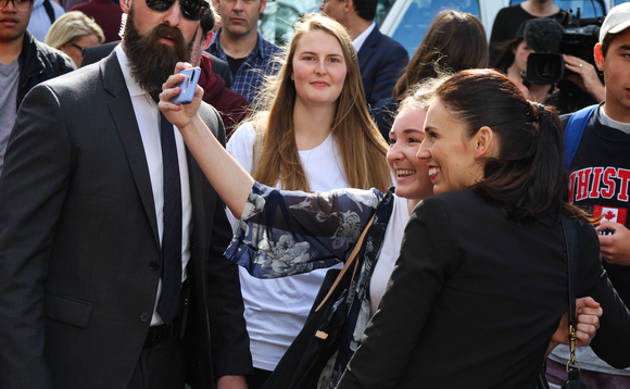 NZ PM Jacinda Ardern poses for a selfie on the campaign trail last year | Credit: Ulysse Bellier