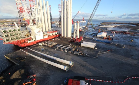 7MW turbines prepare for deployment at Walney Extension | Credit: Ørsted