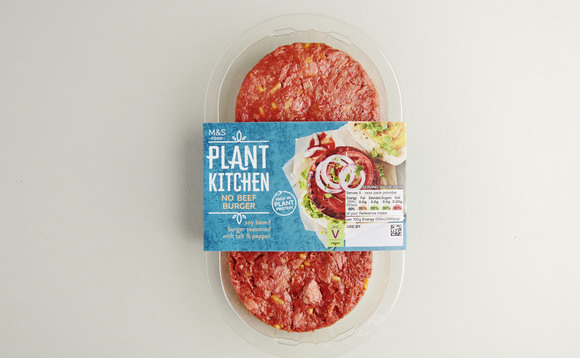 Vegan burgers from M&S' new Plant Kitchen range | Credit: Marks and Spencer
