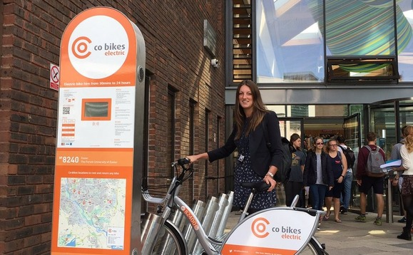 Exeter wheels out UK's first electric bike-share scheme