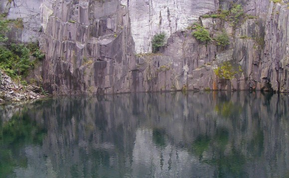 Image of the lower quarry in Snowdonia where the hydro storage project is to be built