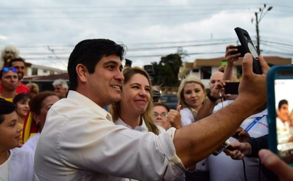Alvarado Quesada on the campaign trail | Credit: Facebook/ Carlos Alvarado Quesada