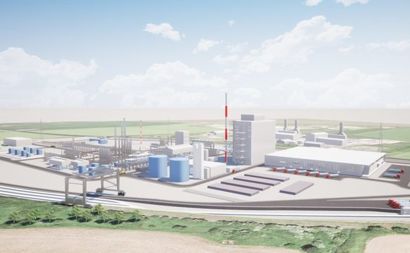 An artist's impression of the planned Immingham plant / Credit: Velocys